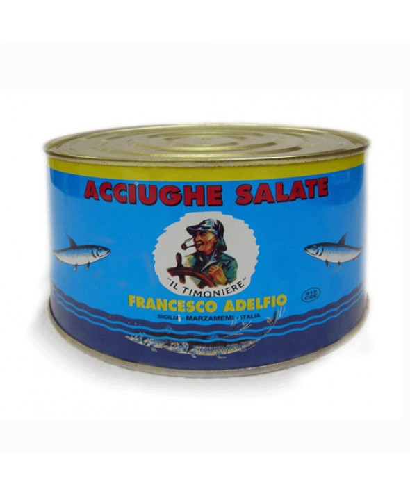 Acciughe Salate in latta da 5 Kg