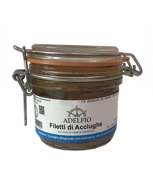Filetti di Acciughe all'olio di semi di girasole