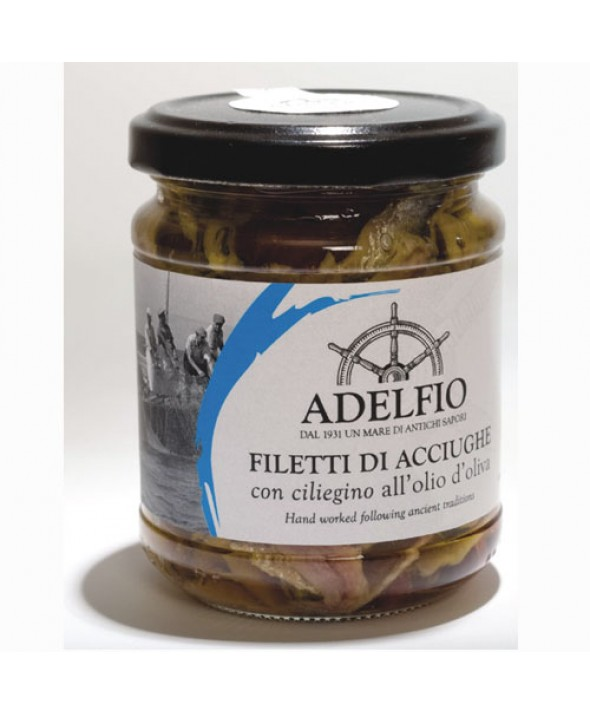 Filetti di Acciughe con Ciliegino di Pachino secco
