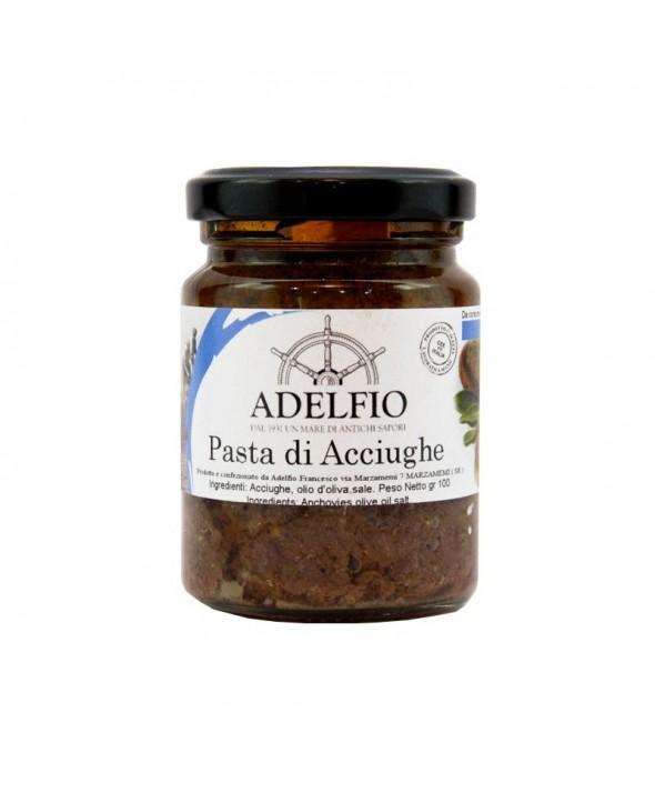 Pasta d'acciughe all'olio di oliva