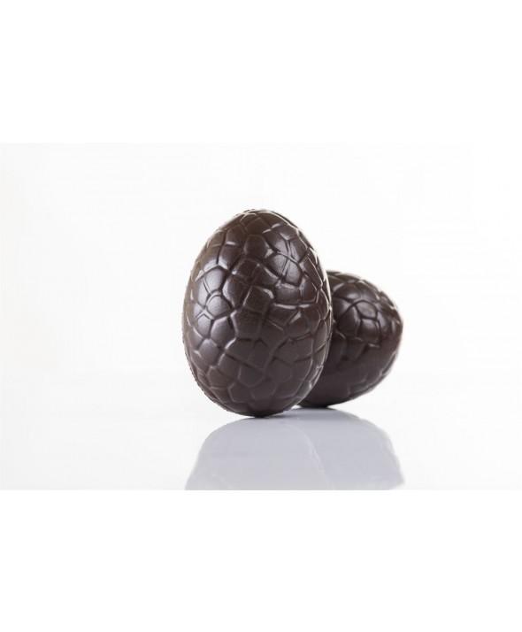 """Ovetto piccolo tartarugato di Puro Cioccolato Fondente Extra """"Modica"""" 65%"""
